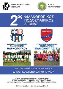 2ος Φιλανθρωπικός ποδοσφαιρικός αγώνας παλαιμάχων Μαρκοπούλου